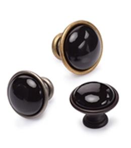 Black Domed Cabinet Knob