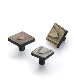 Square Pine Cabinet Knob