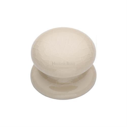 Porcelain Cabinet Knob Cream Crackle