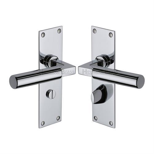 Bauhaus Door Handle on Plate