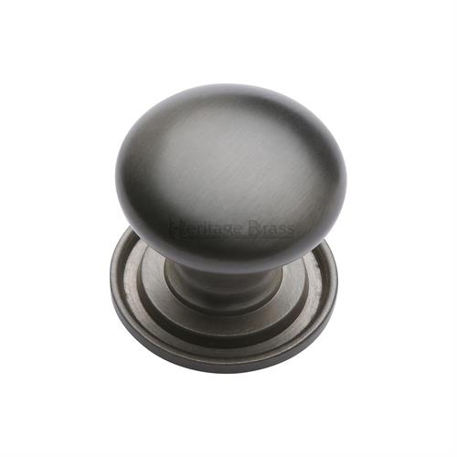 Victorian Round Cabinet Knob with Base