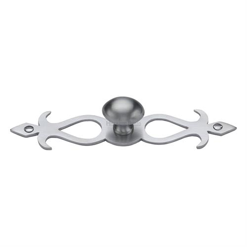 Oval Cabinet Knob with Backplate
