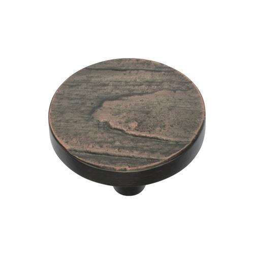 Round Pine Cabinet Knob