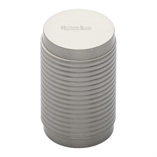 Cylindric Ribbed Cabinet Knob