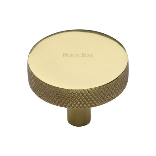 Disc Knurled Cabinet Knob