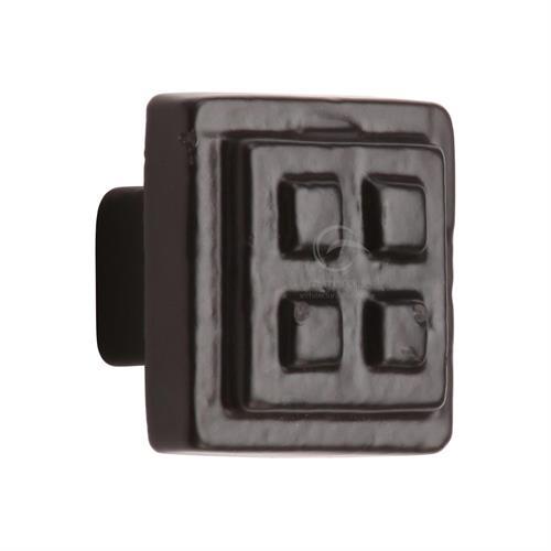 Black Iron Square Craft Cabinet Knob