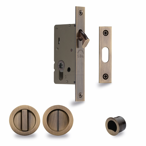 Sliding Lock with Round Privacy Turns