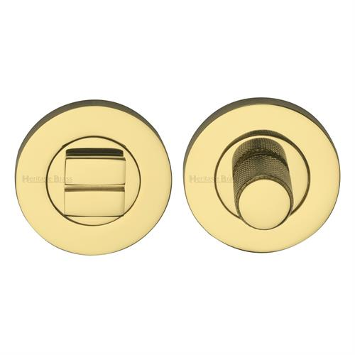 Round Knurled Bathroom Turn & Release