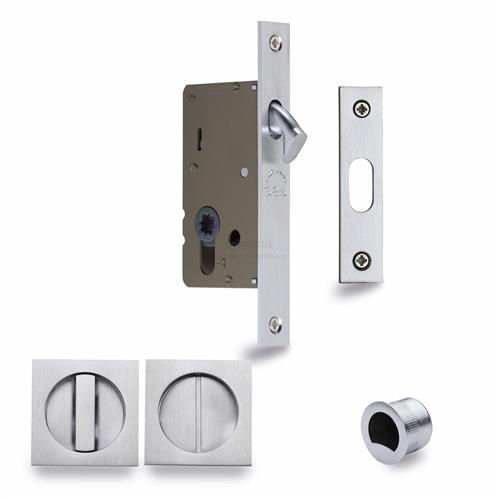 Sliding Lock with Square Privacy Turns