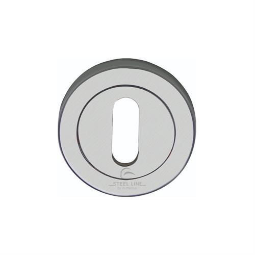 Steel Line Standard Key Escutcheon Round