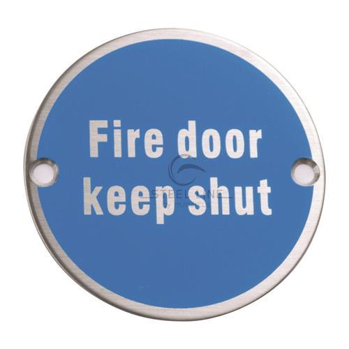 Fire Door Keep Shut Engraving