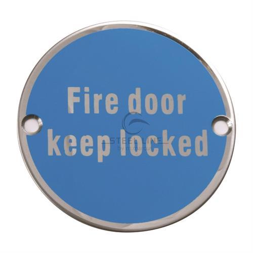 Fire Door Keep Locked Engraving