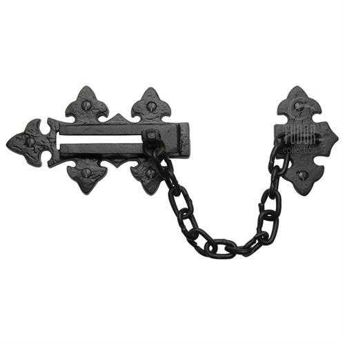 Tudor Door Chain Black Iron