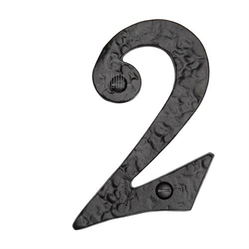Black Iron Numeral 2