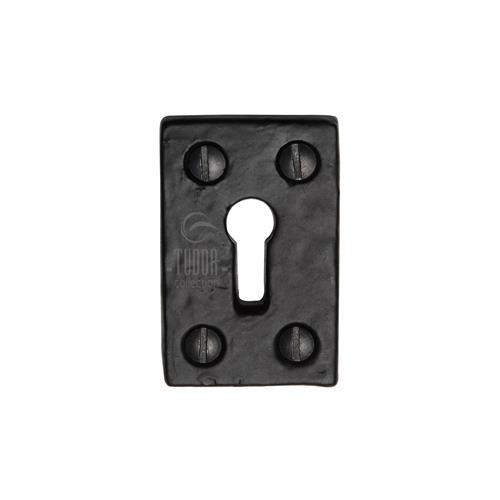 Tudor Standard Key Escutcheon Square Black Iron