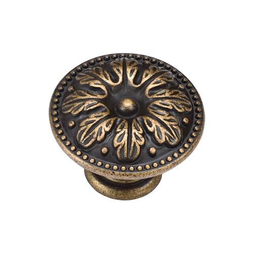 Floral Round Knob