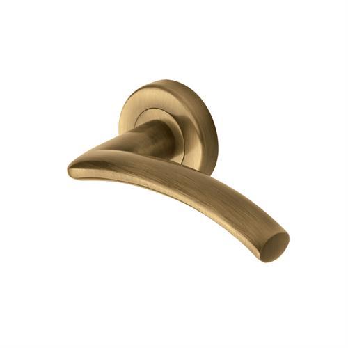 Centaur Door Handle on Round Rose