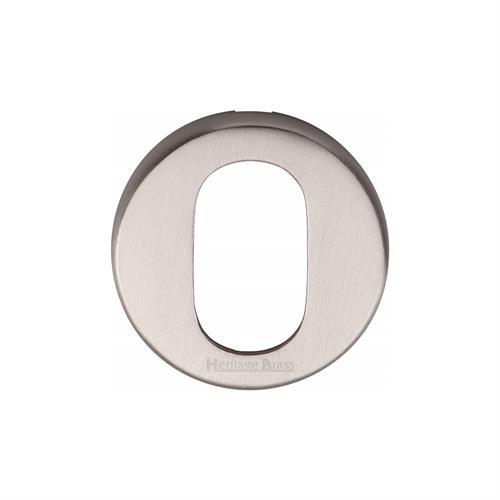 Oval Profile Cylinder Escutcheon Round - V4009