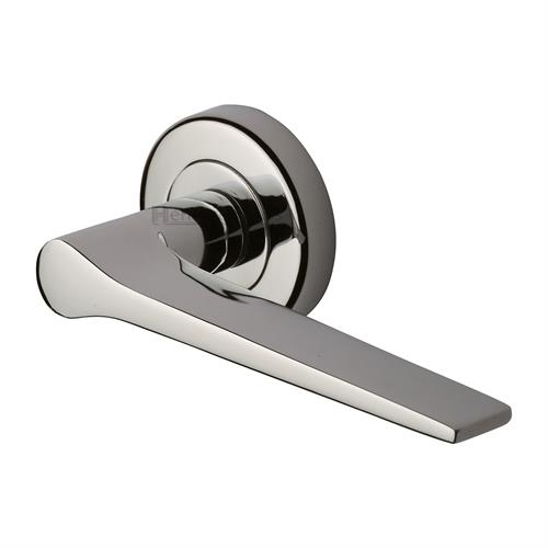 Gio Door Handle on Round Rose