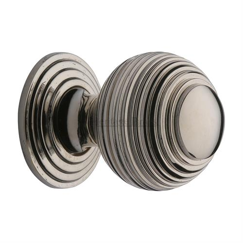 Reeded Cabinet Knob with Base