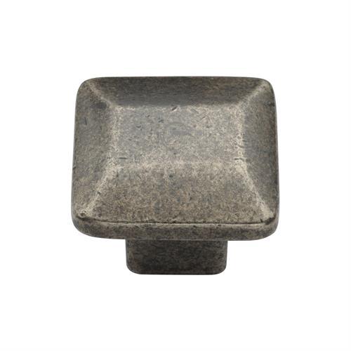 Pewter Cabinet Knob Trapezoid Design