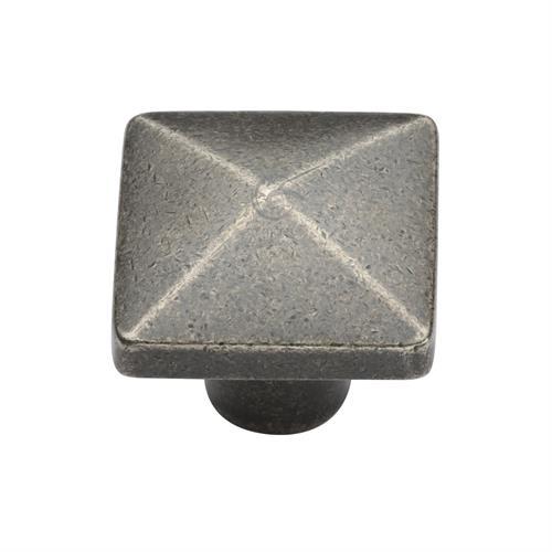 Pewter Cabinet Knob Pyramid Design