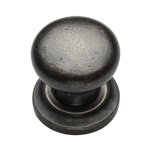 Pewter Cabinet Knob Round Design