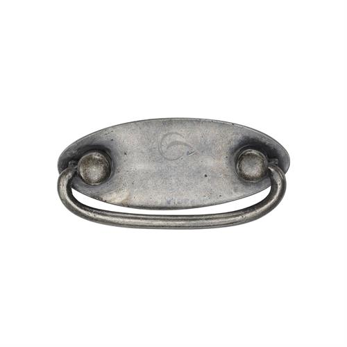 Pewter Oval Drop Pull