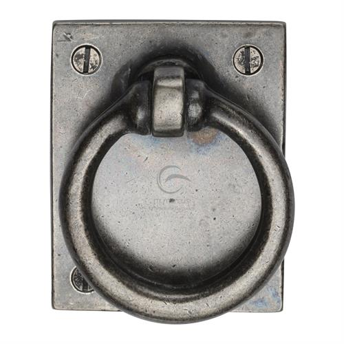 Pewter Ring Drop Pull On Plate